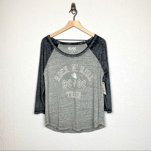 Lucky Brand AC/DC Burnout Tee